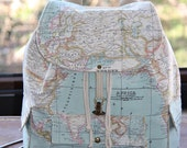World Map Prints Backpack/Atlas Large Backpack/Travel,School,Daily Backpack/Unisex  Rucksack /Earth /