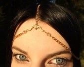 Third Eye Chakra Quartz Crystal Head Chain--Sexy Boho Festival Wear Fortune Teller Gypsy Head Dress Tiara Crown Witchy Pagan