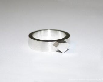Diamond-less diamond silver ring (diamond-less diamond ring series)