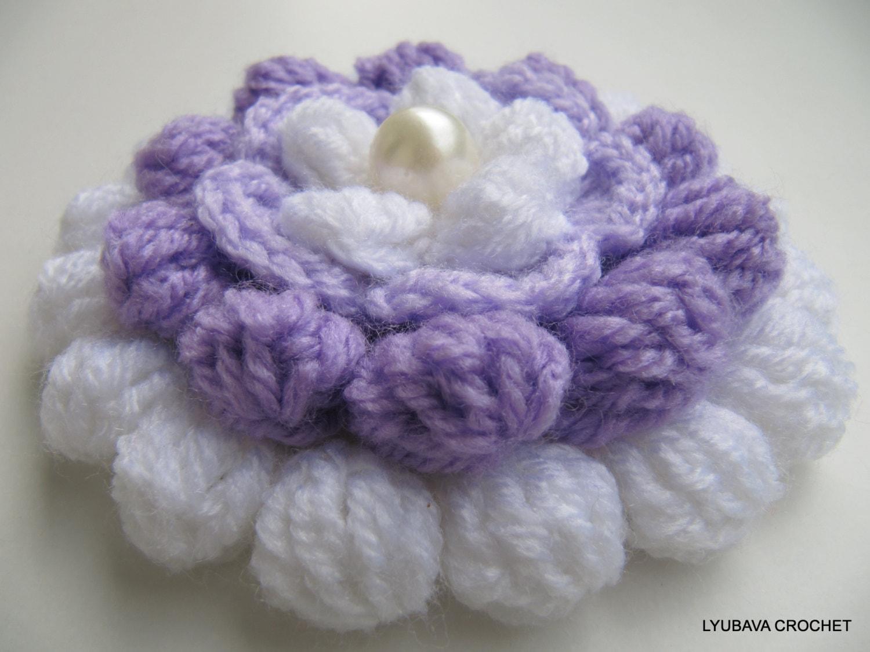 Large crochet flower pattern crochet flower pattern lilac mosaic flower 3d flowers izmirmasajfo