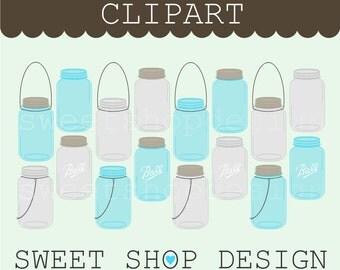 Mason Jar Clip Art, Baking / Cooking Clip Art, Wedding Clip Art, Royalty Free Clip Art, Instant Download