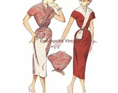 Plus Size (or any size) Vintage 1949 Wiggle Dress Sewing Pattern - PDF - Pattern No 96 97 Delia