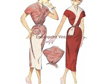 Plus Size (or any size) Vintage 1949 Wiggle Dress Sewing Pattern - PDF - Pattern No 96 97 Delia