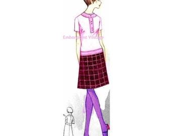 Plus Size (or any size) Vintage 1969 Dress Pattern - PDF - Pattern No 171 Camille