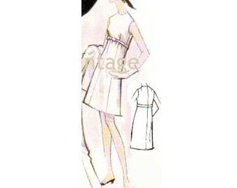 Plus Size (or any size) Vintage 1969 Women's Dress Pattern - PDF - Pattern No 155 Sondra
