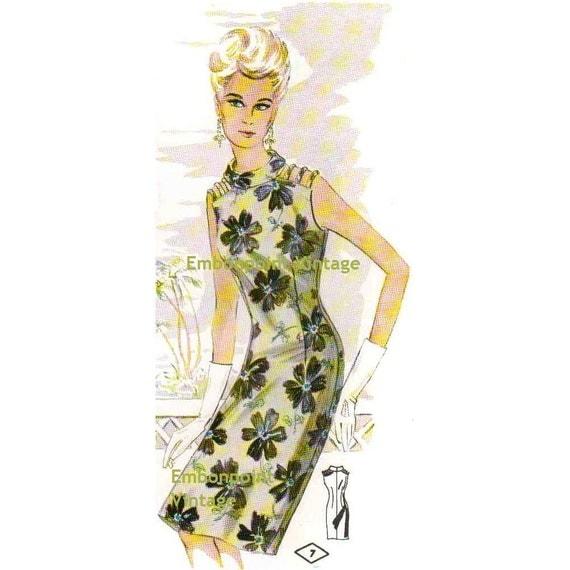 Plus Size (or any size) Vintage 1969 Womens Dress Pattern - PDF - Pattern No 7 April