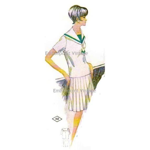 Plus Size (or any size) Vintage 1969 Shirt Pattern - PDF - Pattern No 40a Trina Shirt