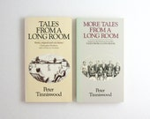 Peter Tinniswood Tales From a Long Room - 2 Vintage Paperback Books with Illustrations - British Humour - Cricket