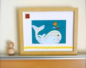 Nautical Wall Art for Children, Whale Nursery Art