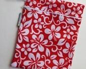 Reusable Zipper Waterproof Wet Bag/Bikini Bag - Small Size - Hawaiian Red