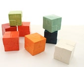 Porcelain Cube Paperweight