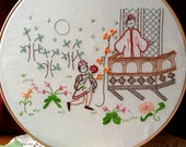 Romeo & Juliet Balcony Scene - Embroidery Pattern PDF - Includes Stitch Guide - Shakespeare