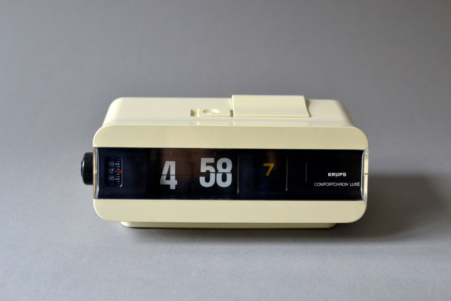 Vintage Flip Clock Alarm Clock West German Krups White
