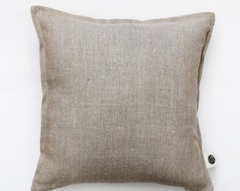 Linen pillow cover  - decorative covers - linen cushion case - natural linen throw pillows - shams 14x14/16x16/18x18/20x20/22x22     0054