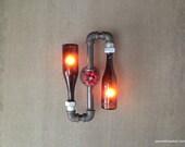 Gary Taylor Custom Order - Beer Bottle Sconce - Industrial Lighting - Steampunk Lamps