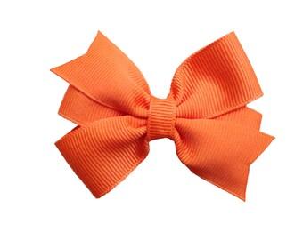 3 inch orange hair bow - orange bow, baby bow, toddler hair bows, pinwheel bows, girls hair bows, girls bows, baby hair bows, hairbows