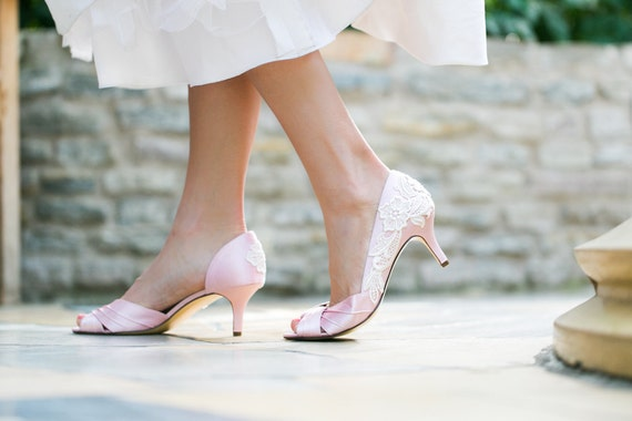 Pink Wedding Shoes Low Heel: Wedding Shoes Light Pink Wedding Heels Pink Bridal By