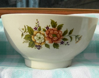 """1970 Vintage French """"Three bowls with flowers"""""""