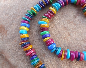Multicolored Mother of Pearl Bead Strand