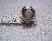 Vintage Silver Cameo Ring
