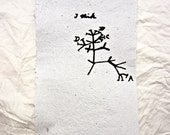 Darwin Tree of Life Print on Handmade Paper -  Evolution Biology Print