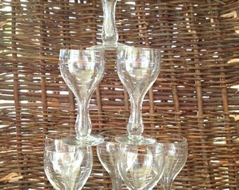 Vintage Glass Cordials- Vintage Barware- Liquor- Drinking Glasses- SALE WAS 30.00 now 24.00