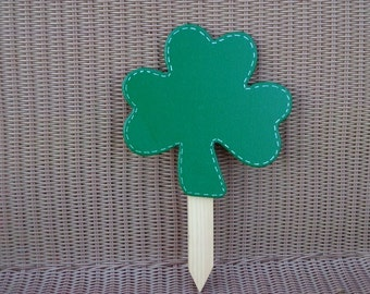 St. Patrick's day Shamrock wooden yard sign