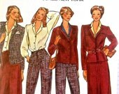 Misses Lined Jacket Pleated Straight Skirt Blouse and Pants Rena Rowan of Jones New York Butterick 6738 Size 16