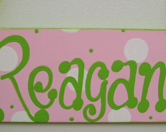 Hand painted personalized kids room door signs