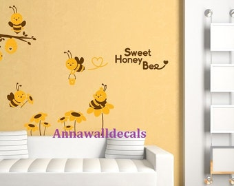 Popular Items For Bee Wall Decal On Etsy