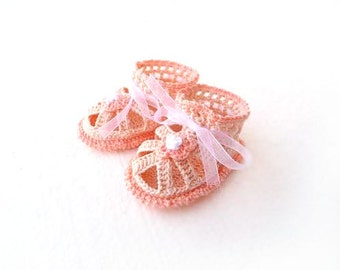 Baby GIrl Sandals size 0-3 Months 3-6 Months - peach coral for baby girl