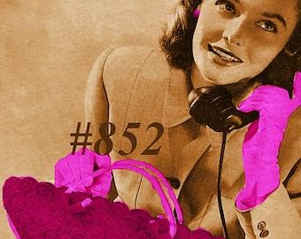 Almost FREE Vintage 1940s Petite Motif Bag 852 PDF Digital Crochet Pattern