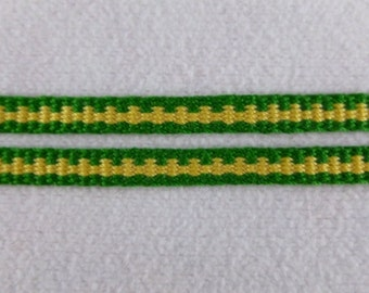 "Arnaut -  Hand Woven Inkle Trim (1/4"" wide)"