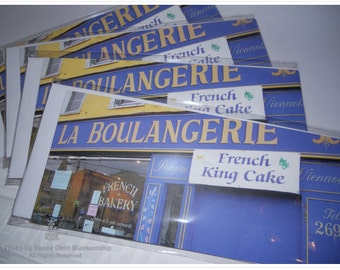 French Bakery Notecards -  New Orleans Photography - La Boulangerie Flat Cards - New Orleans Stationery
