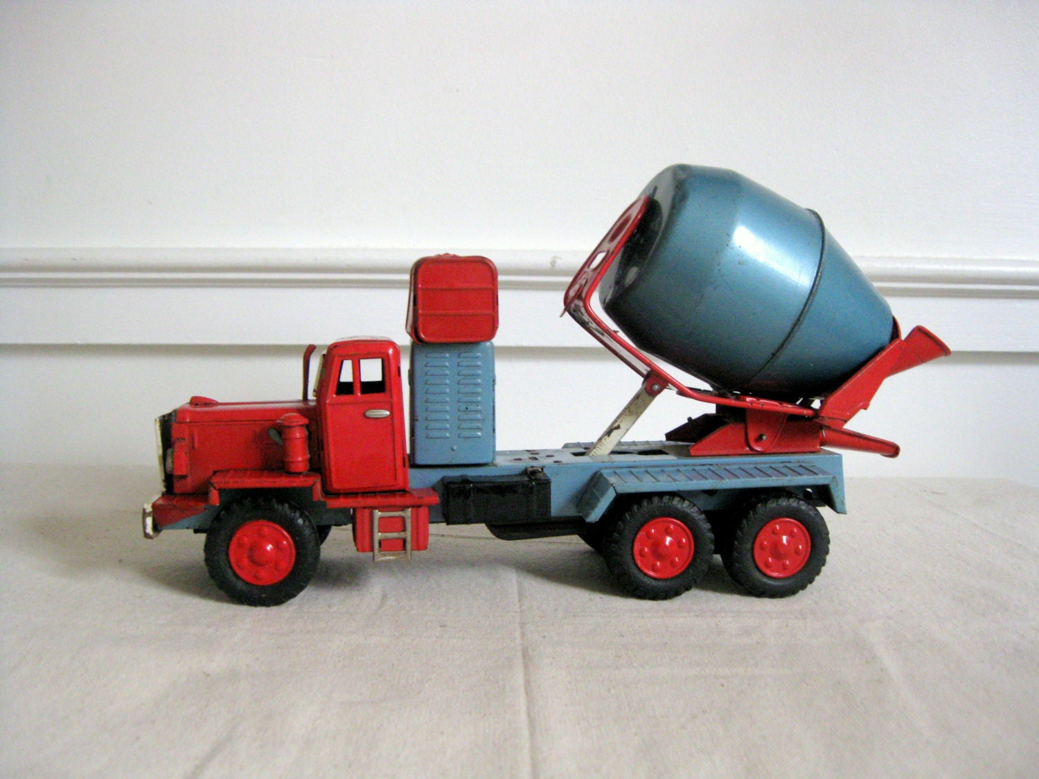 Vintage cement mixer toy trucks