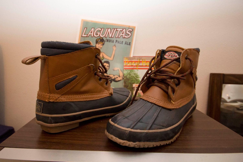 vintage rubber duck boots mens size 9