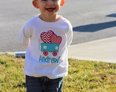 Personalized Valentine's Day Heart Wagon T-shirt or Bodysuit