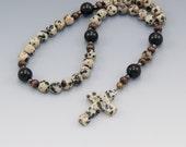 Christian Prayer Beads - Anglican Rosary - Dalmatian Jasper - Baptism Gift - Item # 737