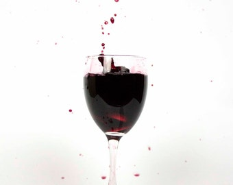 Wine Photo Print, Red Drink Photography, Drinking Bar Decor, Unique Art