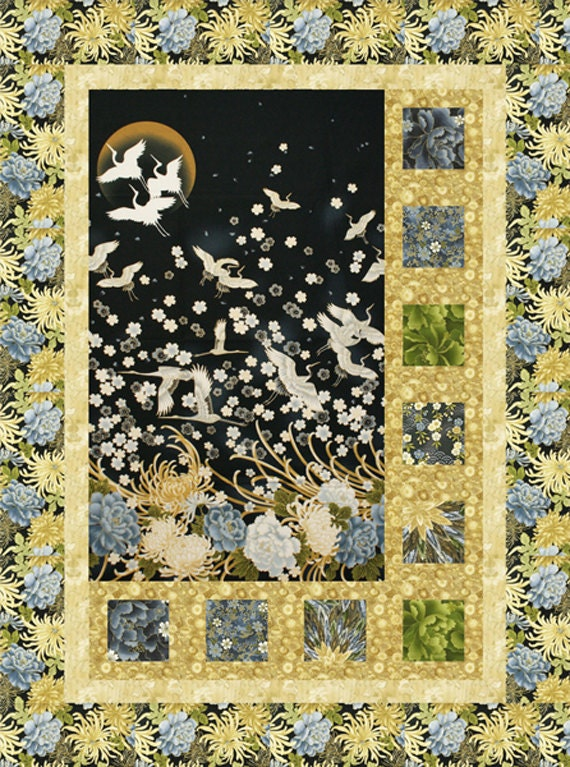Sidelights Quilt Pattern For Panels Large Scale Fabric Diy