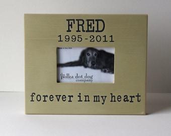 pet memorial, dog picture frame, dog memorial, loss of a pet