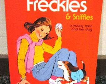 1981 Freckles & Sniffles Paper Doll Book UNCUT