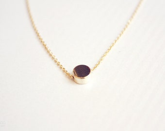 tiny dot necklace - minimalist gold necklace - dainty jewelry / gift for her under 20