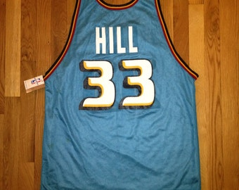 vintage grant hill champion jersey reversible pistons mens size 44