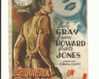 Free shipping-Vintage film flyer - They Made Me a Fugitive  1947