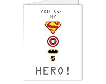 Get 10% OFF - Superman, Captain America, Batman, Robin, Superhero Logo Blank Card - Special 2016 SALE