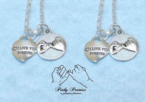 2 i you forever hearts promise necklaces his hers