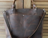 Tote bag leather brown
