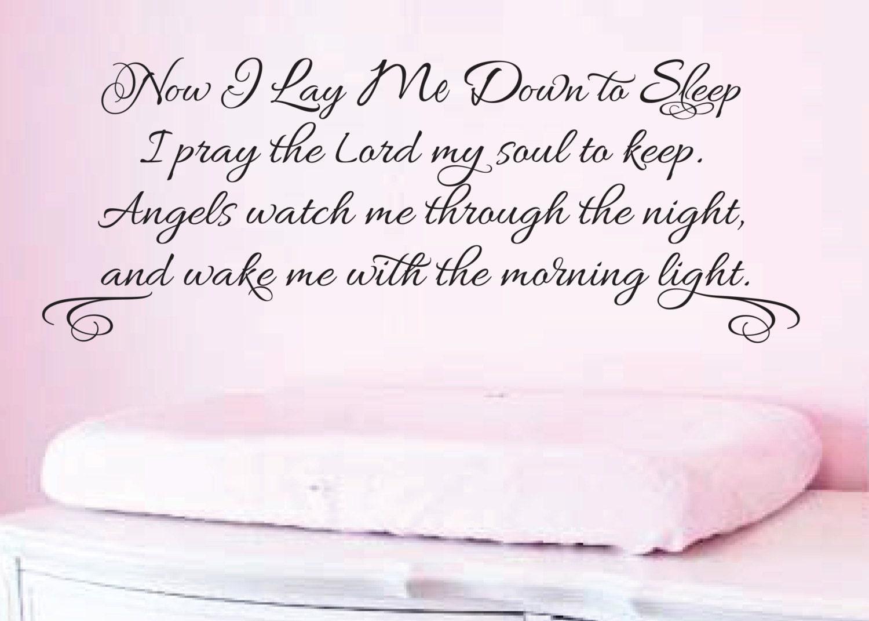 Now i lay me down to sleep wall decal -  Wall Art Nursery Decal Now I Lay Me Down To Sleep I Pray The Lord My Zoom