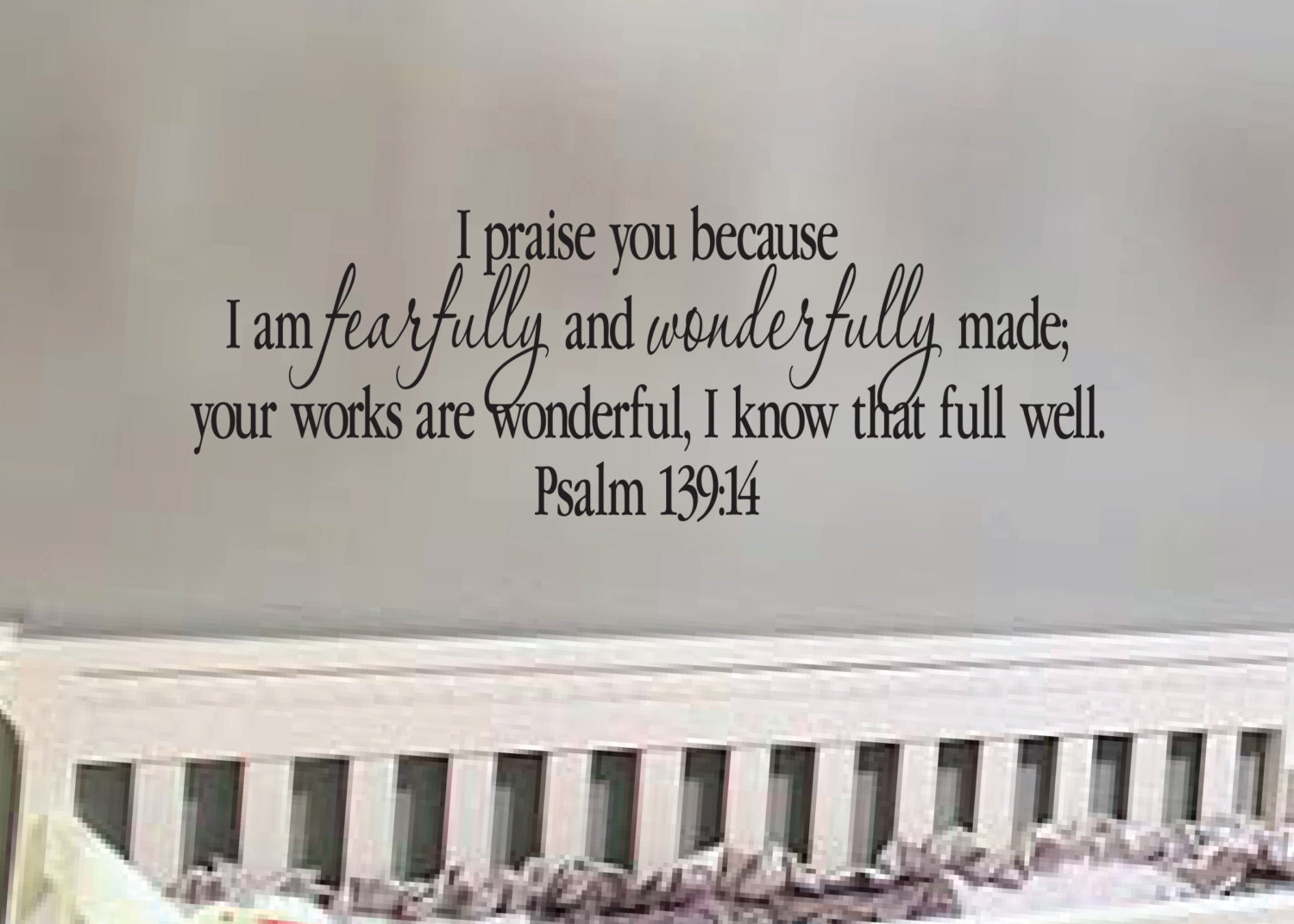 psalm 13914 praise you because i am fearfully and wonderfully